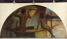 J ALEXANDER Antq/Vtg c1915-21 Lrg Hand-Color Emery Print EGYPTIAN HIEROGLYPHICS