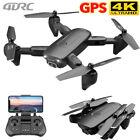 Drone GPS WIFI FPV 4K 1080P HD Dual Camera Foldable Selfie RC Quad Copter