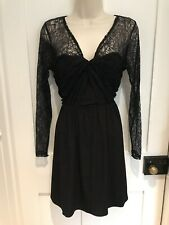 Coast Lace Black Occasion Goth Party Dress Skater Style Size 12
