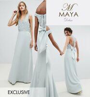 Maya Tall Sequin Bodice Maxi Dress With Cutout uk14/eu42/us10