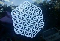 Sacred geometry flower medium Car vinyl Sticker 140×150mm aussie made & design