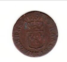 LOUIS XVI  LIARD  ECU royaux frappée 1791 K = BORDEAUX  cote 45 euro TB