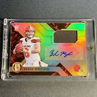 BAKER MAYFIELD 2018 PANINI GOLD STANDARD #201 AUTO JERSEY ROOKIE RC #'D /99 NFL