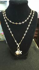 Catherine Popesco ~ Gold, Black & White Diamond Swarovski Crystal Necklace