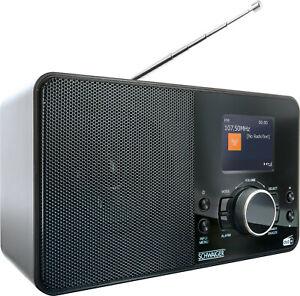 SCHWAIGER DAB DAB+ Radio digital Radio FM UKW Küchenradio mit Farbdisplay Wecker