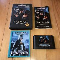 VG COND Batman Returns Sega Genesis CIB Complete Video Game Tested Works Fun