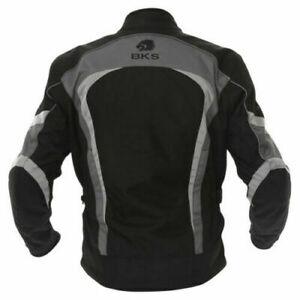 BKS Stirling Textile Motorcycle Jacket Waterproof Black/Grey, small ladies