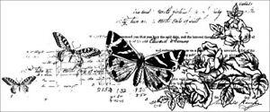 Kaisercraft Botanical Clear Cling Stamp Background Butterflies script