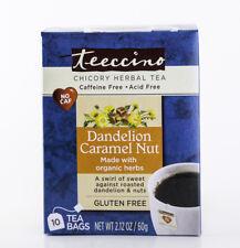 Teeccino - Dandelion Caramel Nut, 10 Bags, 2.12 oz - 75% Organic Herbal Coffee