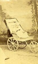 Young Boy Toy Pram France Meudon Old CDV Photo Dumesnil 1870