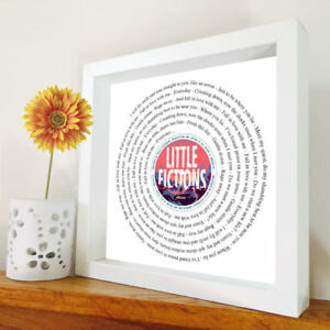 Elbow - Gentle Storm - framed song lyrics - any song - Little Fictions - Gift