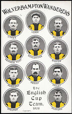 Sports Postcard - Wolverhampton Wanderers Football Club, 1908 Cup Team   DR945