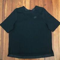 New! $90 Nike Women's Sportswear Tech Fleece Top Black Size Large