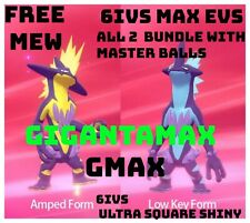 Pokemon Sword Shield Shiny Toxtricity 6IV both forms Gigantamax 6IVs + mew