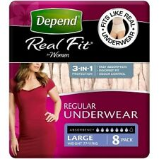 Depend Real Fit Underwear Female Super Large 8pk