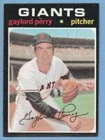 1971 Topps #140 Gaylord Perry San Francisco Giants JVB