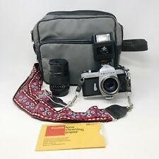 Asahi Pentax Spotmatic SP SLR Film Camera 35mm With 2 lenses And Bag