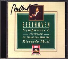 Riccardo MUTI Signed BEETHOVEN Symphony No.6 Pastoral Leonore 3 Philadelphia CD