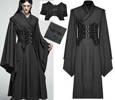 Gothic Punk Japan Warrior Striped Kimono Coat + Studded Corset Belt PunkRave Men