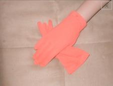 Vintage 1950's Orange wrist-length Gloves