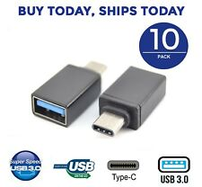 10pc LOT USB Type C USB-C to USB-A 3.0 Adapter for MacBook, ChromeBook Pixel, S8