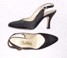 BLUE VELVET escarpins sandales satin noir P 38 = 37