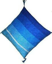 Fair Trade Moroccan Woven Contemporary Textile Cushion Cover Covers 545 Blue