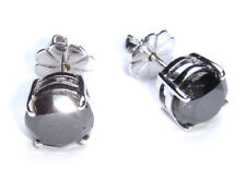 1.50ct Diamante Negro Pendientes en 14k ORO BLANCO