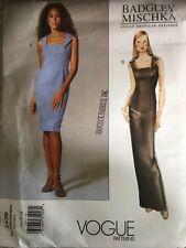 VOGUE American Designer Badgley Mischka Evening Dress Pattern 2436 Size 14 - 18