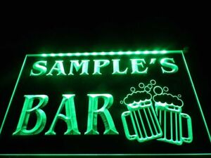 Name Personalized Custom Home Bar Beer Mugs Cheers Neon Sign hang sign