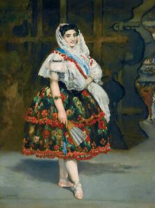 "Edouard Manet - Lola de Valence (1862) Signed - 17"" x 22"" Fine Art Print"