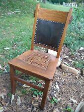 Antique Mission/Craftsman/Arts & Crafts Oak Rabbit Ear Side Chair, w/Sticker