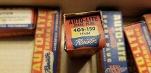 8 vintage Autolite Spark Plugs # 4GS-150  14mm 49 50 51 52 Dodge Desoto NOS Wow