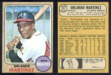 (36860) 1968 Topps 578 Orlando Martinez Braves-EM