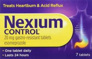 3 Boxes Nexium Control 20mg Gastro-Resistant Tablets - Pack of 7 Each Box
