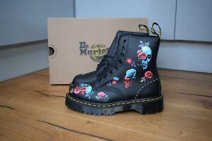 Dr MARTENS 1460 PASCAL BEX Rose Rose Fantasy Black Stud Boots UK 5 EU38 US7 RARE