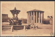 Italy Postcard- Roma - Piazza Bocca Della Verita e Tempio Supposto Di Vesta U938