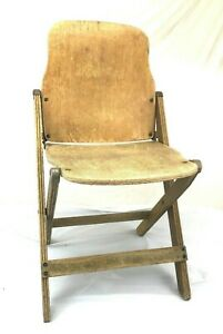 Vintage Wooden Folding  chair photo prop craft supply plant stand