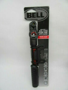 Bell AIRBLASTER 850 Dual Stage Frame Pump with Gauge Bike Bicycle BRAND NEW