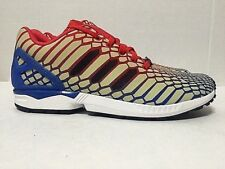 7bf83dc55cf Adidas ZX Flux Xeno Reflective Glow Road Running Shoes AQ4533 Mens Size 10
