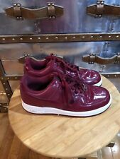 b0f618bd5ed96e Nike Air Force 1 Crimson Red Patent Leather Sneakers 315122-601 Men s Size  9.5