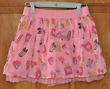 Girl's Pink Skirt with Girly Girl Images Size 4 Super Cute Fantastic Condition