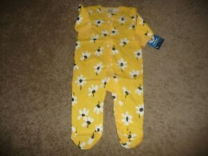 NEW NWT Gerber girls 3-6 months pretty yellow daisy sleep and play