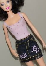 Barbie Outfit Pink Top Rock N Roll Skirt Fit Fashionista Model My Scene Liv Doll