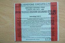 Ticket- 1989 BRITISH GRAND PRIX~Special Trackside Spectator Enclosures.