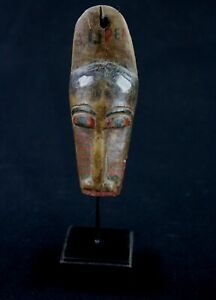 "Art Africain - Ancien Passeport Baoulé ""Goli Giin"" - Socle sur Mesure - 12,5 Cms"