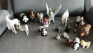 Lot Schleich, Safari, Papi, Battat, & unbranded Animal figures.
