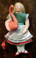 Gladys Boalt Ornament Alice with Flamingo 1980 Alice in Wonderland Series