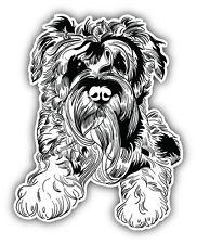 Miniature Schnauzer Dog Sketch Car Bumper Sticker Decal 4'' x 5''