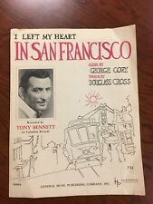 "Original Tony Bennett sheet music"" I Left My Heart In Sanfrancisco"""